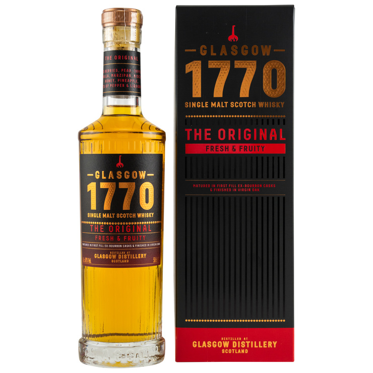The Original Fresh and Fruity Glasgow 1770 Single Malt Scotch Whisky