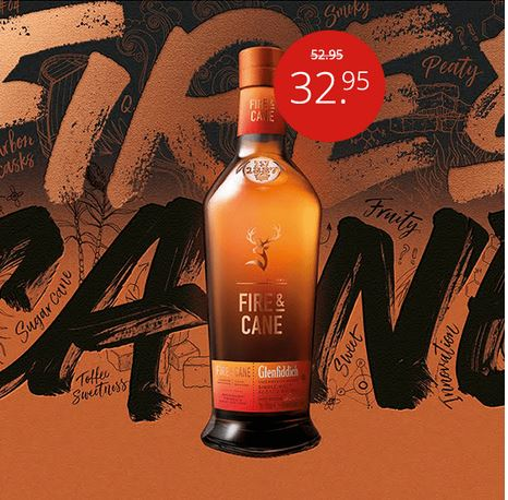 Donnerstagsdeal Whisk(e)y Glenfiddich Fire & Cane Single Malt 70CL