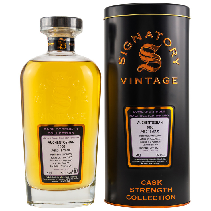 Auchentoshan 2000/2020 Signatory Vintage Cask Strength Collection