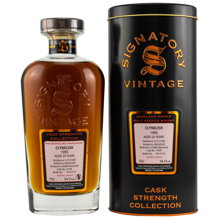 Clynelish 1995/2020 Signatory Vintage Cask Strength Collection