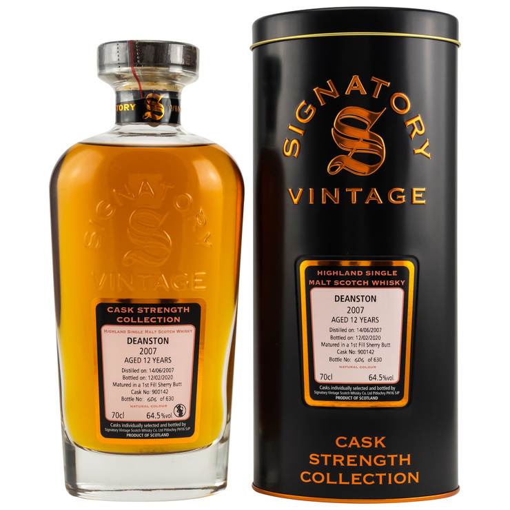 Deanston 2007/2020 Signatory Vintage Cask Strength Collection