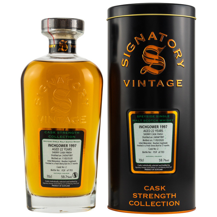 Inchgower 1997/2020 Signatory Vintage Cask Strength Collection