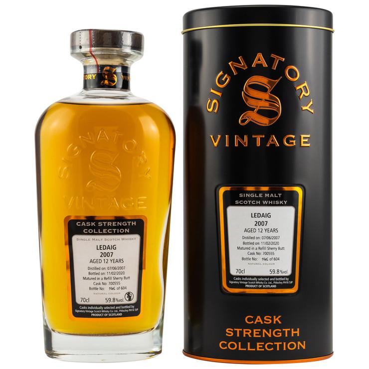 Ledaig 2007/2020 Signatory Vintage Cask Strength Collection