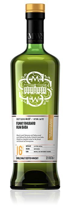 Funky Rhubarb Rum Baba