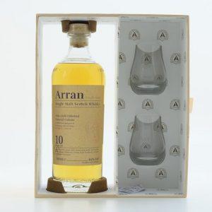 Arran Malt 10 Jahre Island Whisky 46% 0,7 + 2 gratis Gläser