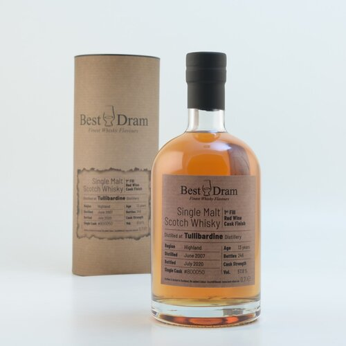 Best Dram Tullibardine 13 Jahre Single Cask Whisky 57,8% 0,7l